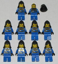 LEGO LOT OF 10 NEW KINGDOMS KNIGHT MINIFIGURES MINIFIG KINGS CROWN