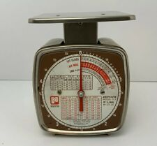 Vintage 70s Pelouze Postage Scale Model Z5 Brown Rates 5 Lbs Made In Usa
