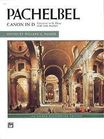 Canon in D; Pachelbel, Johann, Piano Solo, ALFRED - 2541