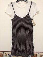 Junior Girls ARIZONA JEAN CO. Black White Striped with White Shirt NWT Size Med