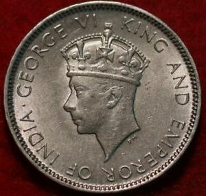 Uncirculated 1937 Hong Kong 10 Cents Silver Foreign Coin