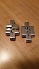 """2pcs  4"""" Stainless Steel Invisible Concealed  Hinge for Wooden Door"""