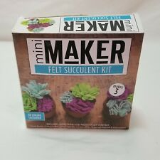 Mini Maker Felt Succulent Craft Kit New Open Box