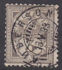 Suiza:1882 3c purple-brown sobre papel granito Sg 127a Usado