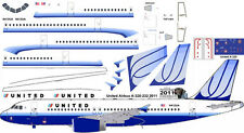 United Airbus A-320 old colors 1/144 airliner decals for Revell kit