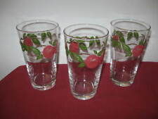 """FRANCISCAN  """"APPLE""""  17 - OUNCE ICED TEA-BEVERAGE TUMBLERS (3)  --  HARD TO FIND"""