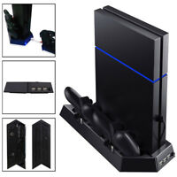 Vertical Stand Cooling Fan 2 Controller Charging Station Dock Cooler Hub Fit PS4
