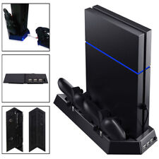 Ventilador de refrigeración SOPORTE + 2 Mando Cargador para SONY PS4 consola