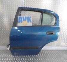 Tür hinten links, Nissan Almera II N16, 00-02,  blau Z01, Fensterheber manuell