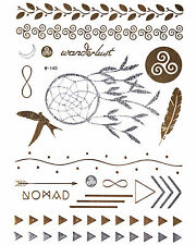 Flash GOLD  Tattoos Einmaltattoos Silber Tattoo Armbänder Modeschmuck W-140