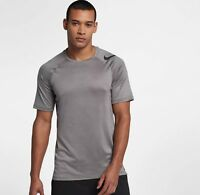 Nike Pro HyperCool Fitted Training Shirt Atmosphere Grey Black 888291 Small
