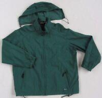 Woolrich Men's Women's Nylon L/S Full Zip Green Coat Jacket Hideaway Hood - 2XL