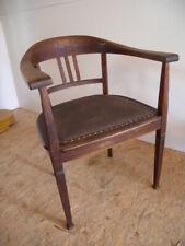 Jugendstil Armlehnstuhl um 1900 Schreibtisch Stuhl alt Sessel Armchair antik
