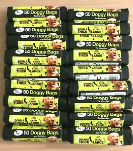 Dog Poo Bags Extra Strong Large Double Thick Dog Poop Tie Handles Doggy Bags