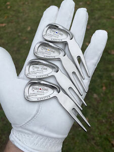 Ping Zing Wedge Design Golf Divot Tool - Silver - New- 'You Choose Dot Color'