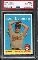 1958 Topps Baseball #141 KEN LEHMAN Baltimore Orioles PSA 8 NM-MT