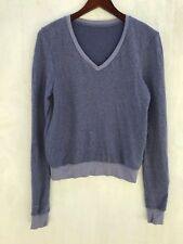 Wildfox baggy beach jumper, v neck, blue, l/s, sweatshirt, new, sz. xs