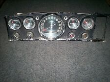 1963-1964 CHRYSLER OEM DASH CLUSTER WITH SPEEDOMETER, GAUGES, SWITCHES and CLOCK
