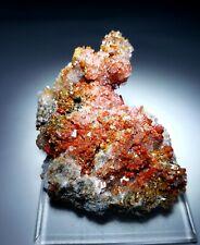 ***SUPERB-Red Vanadinite w/Calcite crystals on matrix, mine Mexico***