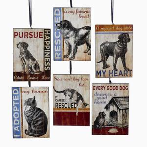 Pet Rescue Plaques Ornaments