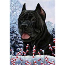 Winter House Flag - Black Cane Corso 15156
