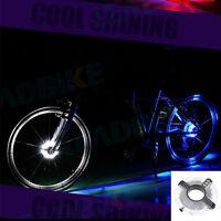 Weiß  Fahrrad Bike Wasserdicht Reifen Beleuchtung Radnabe Lampe LED Licht