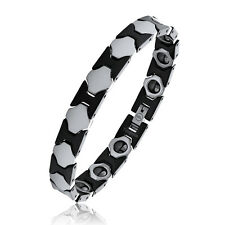 Black & Shiny Polished Tungsten Bracelet with Magnets NEW - OUR EXCLUSIVE STYLE