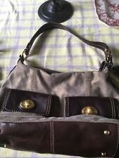 THE SAK Brown & LIGHT BROWN Leather Medium Shoulder Bag Purse Handbag