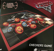 Disney Pixar Cars 3 Checkers Board Game New Jackson Storm McQueen Toy