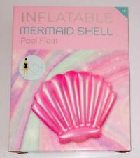 Inflatable Pink Mermaid Shell Pool Float Swimming LILO - 115cm x 90cm