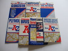 A to Z Street & Road Maps x 8. 90's/2000's - Bristol, Plymouth + See Description
