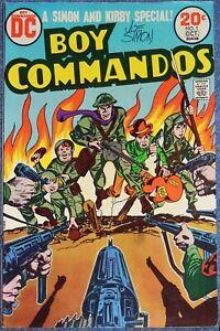 BOY COMMANDOS #1~1973~DC COMICS~SIGNED JOE SIMON~JACK KIRBY~FINE