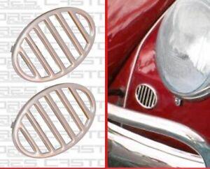 Horn Grilles Aluminium Front Fender for T1 Beetle 113853641A VW Beetle 1950-1967