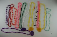 12 Vintage 1978-1979 Krewe of Pontchartrain Mardi Gras Plastic Bead Necklaces b