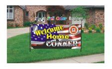 U.S. Coast Guard Welcome Home Banner - Coast Guard Banner 13oz woven mesh banner