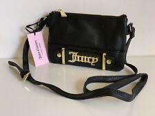 NEW JUICY COUTURE LOUDSPEAKER BLACK CROSSBODY SLING MESSENGER BAG PURSE $69 SALE