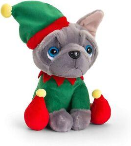 Keel Toys 20cm Frenchie French Bulldog Soft Plush Toy Cuddly Christmas Dog Toy