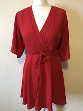 Glamorous Red Wrap Style Dress Size XS (UK 8) Mini Party Christmas BNWT RRP£32