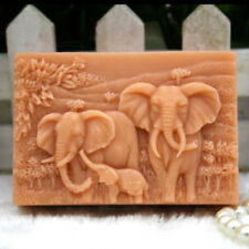 Elephant Family Silicone Soap Molds Craft Mold DIY Handmade Soap Making Mold