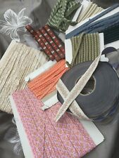 Job lot assorted vintage trimmings ribbon piping craft sewing upholstery 2kg