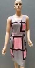 COUNTRY ROAD Summer Work Dress Size 8/XS Geo Print Silk Stretch Sheath Womens
