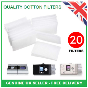20 Quality Cotton Filters For ResMed AirSense 10 S9 S10 - Genuine UK Seller