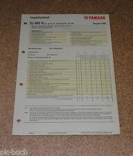 Inspektionsblatt Yamaha XJ 600 N Typ RJ018 (25 KW) Baujahr 1999