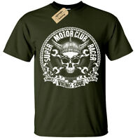 Viking Soul Motero Camiseta Hombre Súper Motor Club Corredor Moto