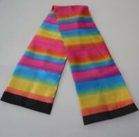 Color Changing Scarf Black Change Into Rainbow Silk Streamer Magic Stage Trick