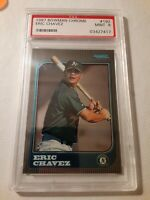 1997 Bowman Chrome ERIC CHAVEZ Rookie #192 PSA Graded Mint 9 Oakland Athletics