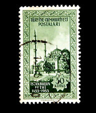 1953 Turkey Stamp 500th. Anniversary of fall of Istanbul Green