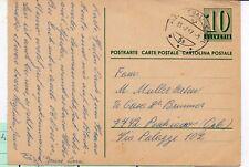 Suiza Entero Postal circulado año 1967 (DL-595)