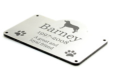 Personalizado para Mascota Perro Placa Conmemorativa S - Jardín Exterior