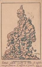 """A4773) WW1 FRANCHIGIA DI GOLIA """"L'EDIFICIO SI SGRETOLA"""". VIAGGIATA."""